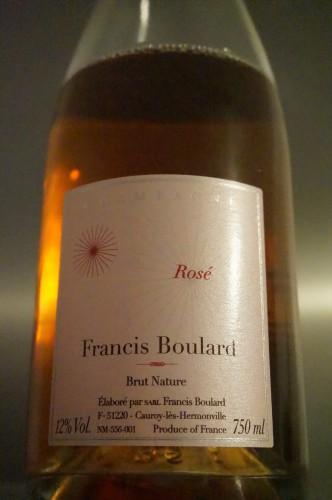 rosé brut nature boulard,rosé francis boulard